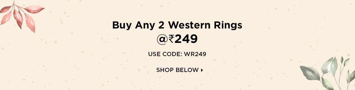 Buy Any 2 Western Rings @Rs 249