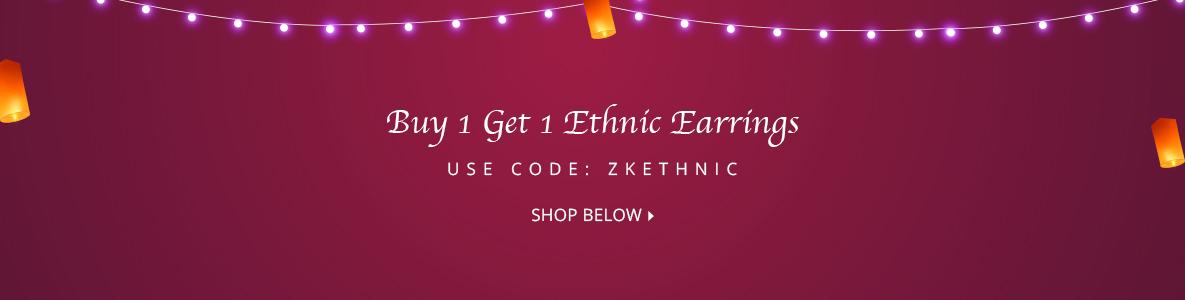B1G1 Ethnic Earrings @399