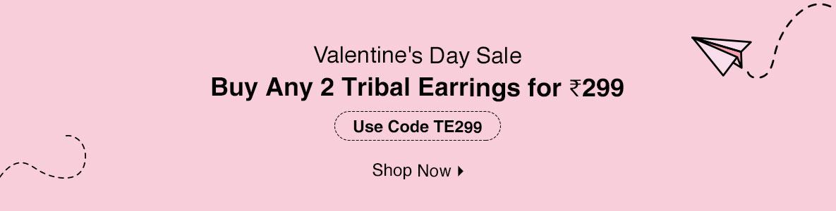 Buy Any 2 Tribal Earrings for @ 299
