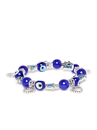 Blue Heart Artificial Charm Bracelet
