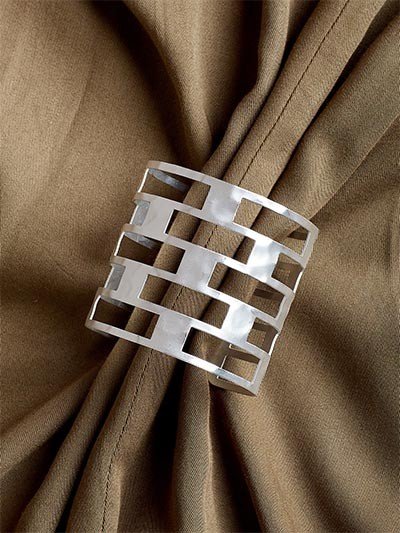 Adjustable Silver Cuff Bracelet