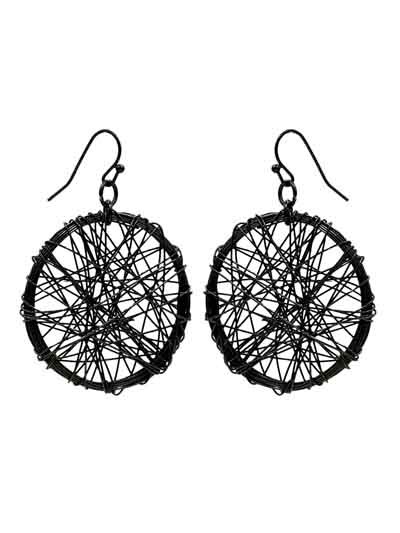 Alloy Metal Mesh Maven Western Earrings for Women