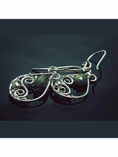 Jingling Olive and Silver Loops