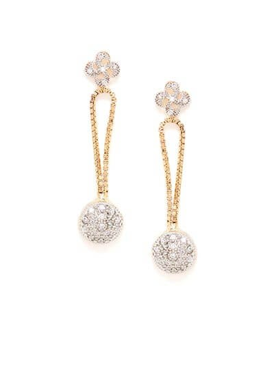 American Diamond Drop Earrings
