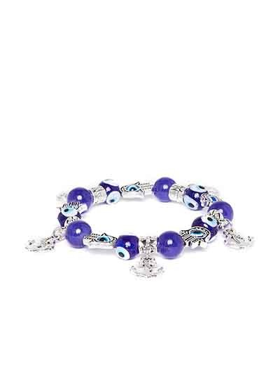 Blue Anchor Artificial Charm Bracelet
