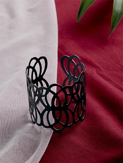 Metallic Grey Cuff Bracelet