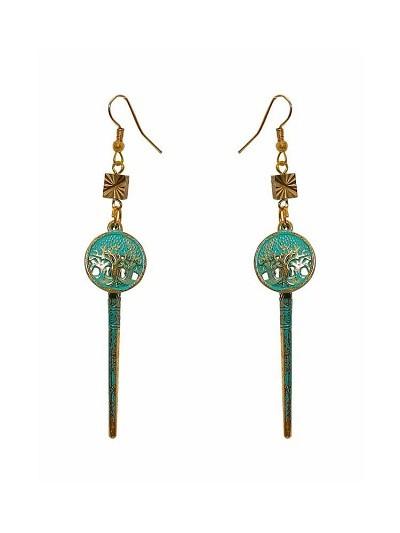 Teal Charm Hanging Handmade Jewellery Earrings