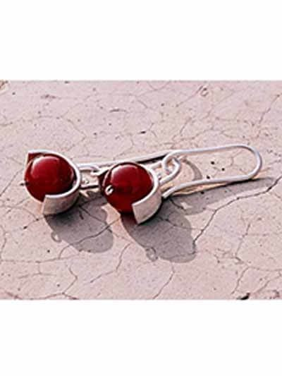 Cherry on Top Silver Earrings