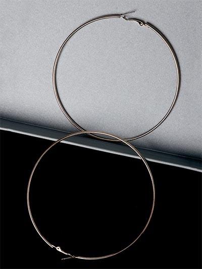 Big Rose Gold Hoop Earrings