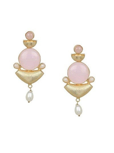 Blush Me Pink Pearl Drop Earrings