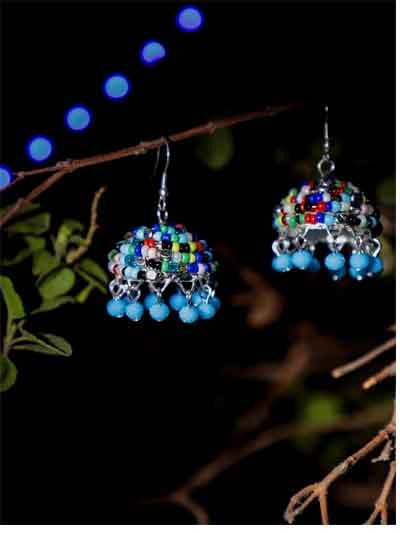 Alloy Metal Multicolor Dangle Drop Western Earrings For Women
