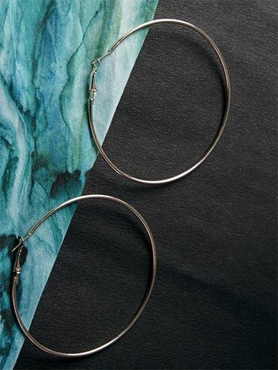Big Golden Hoop Earrings