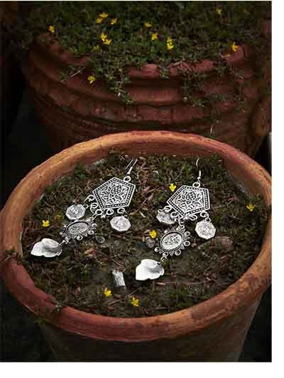 Surya Tribal Jewellery Danglers With Hanging Leaves