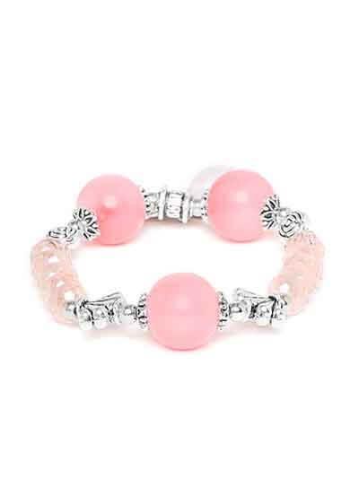 Shades of Pink Charm Bracelet