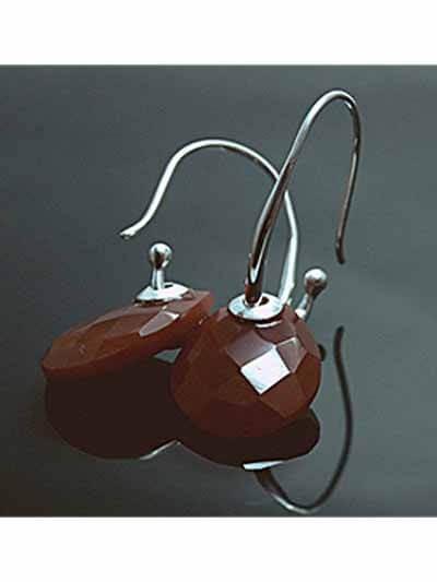 Chocolate Nutties Silver Hoops