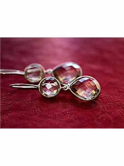 Crystal Raindrops Hoops