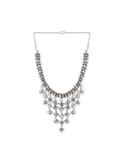 Webbed Allure Tribal Jewellery Silver Necklace
