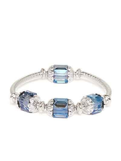 Blue and Silver Artificial Bracelet