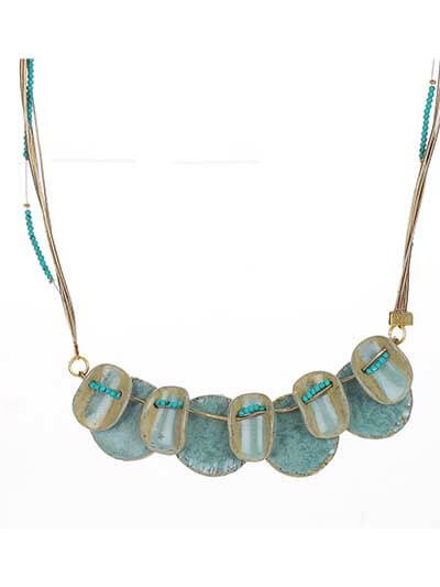 Aqua Shells Statement Necklace