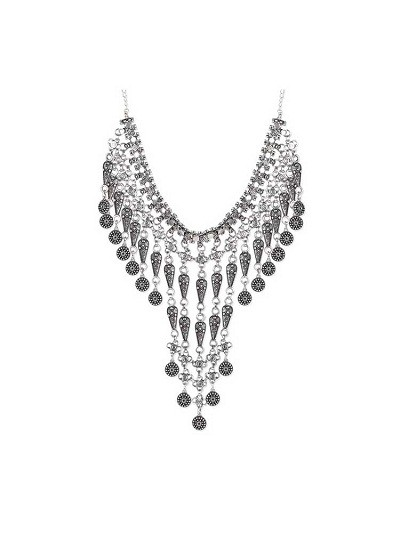 Cascading Glamour Tribal Jewellery Fashion Necklace