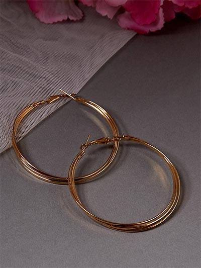 Golden Multiple Hoop Earrings