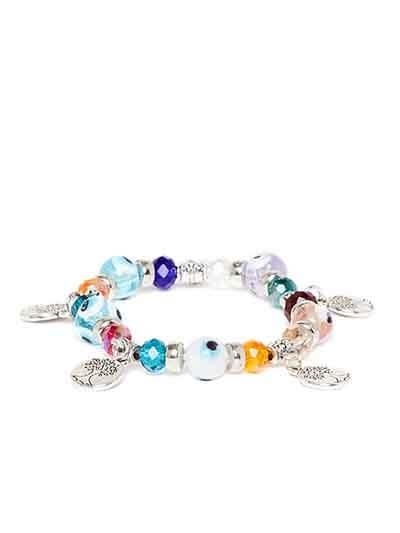 Multicolored Tree Charm Bracelet