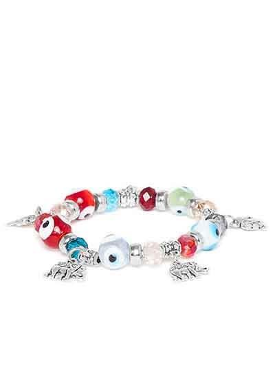 Multicolored Elephant Charm Bracelet