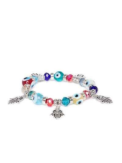 Multicolored Hands of Allah Artificial Charm Bracelet