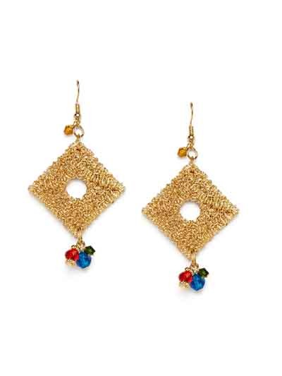 Dazzling Diamond Falling Drops Handmade Western Earrings