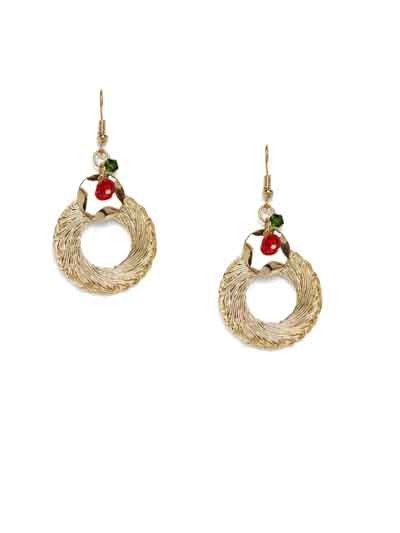 Gold Plated Party Hoops Western Earrings