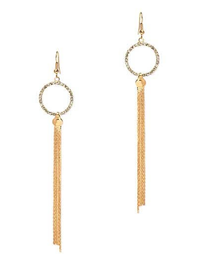Long Gold Dangler Western Earrings