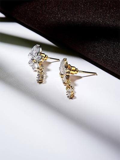American Diamond Classic Short Earrings