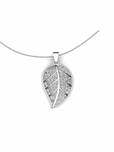 Silver Leaf Nature Pendant