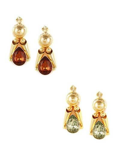 Combo of Two Classic Golden Dangler Earrings