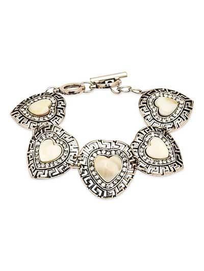 Pale Yellow Stone Handmade Jewellery Bracelet