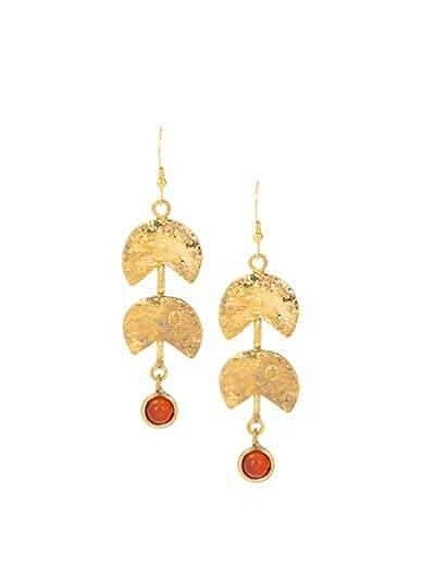 Hanging Carnelian Party Wear Earrings
