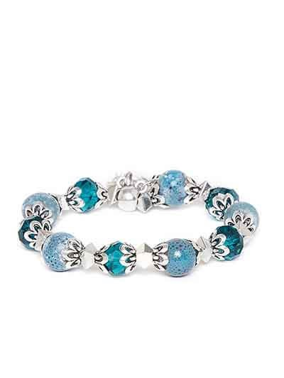 Blue Butterfly Charm Bracelet For Women
