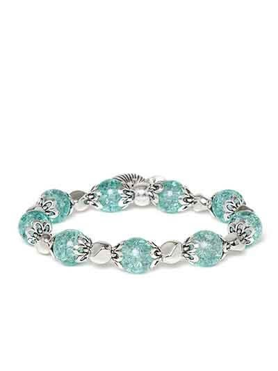 Green and Silver Artificial Bracelet