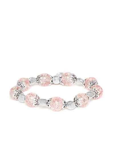 Pink Heart Charm Bracelet