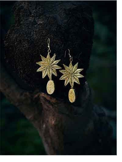 Golden Star Artificial Earrings