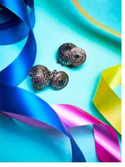 Silver Plated Brass Jhumka Earrings