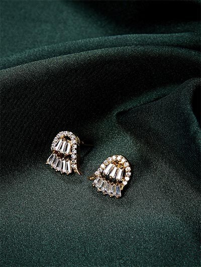 American Diamond Fist Stud Earrings
