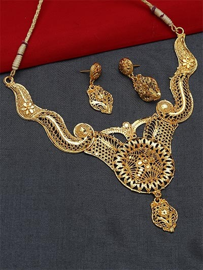 Traditional Golden Necklace Set