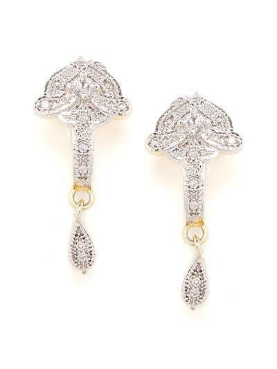 American Diamond Mushroom Shaped Earrings