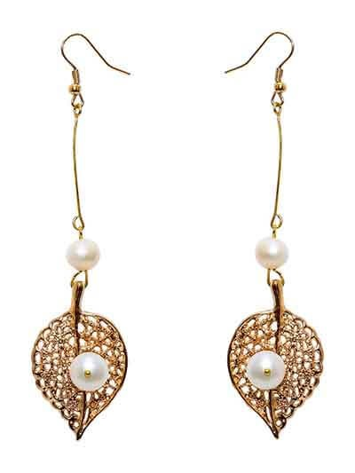 Royal Pearl Banyan Handmade Jewellery Earrings