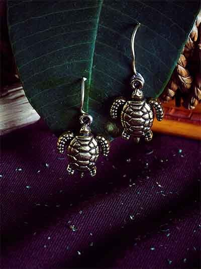 Golden Tortoise Earrings