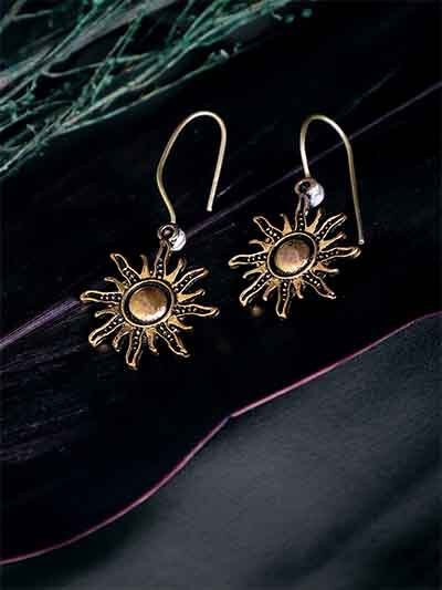 Golden Sun Earrings