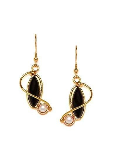 Short Black Western Earrings For Women