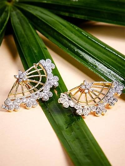American Diamond Butterfly Stud Earrings