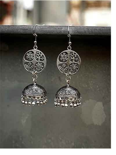 Exquisitely Crafted Tribal Jewellery Jhumki Earrings